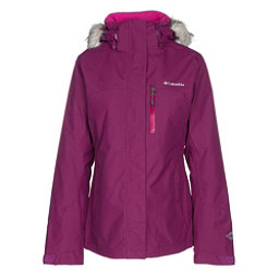 Columbia Lhotse Interchange w/Faux Fur Womens Insulated Ski Jacket, Dark Raspberry-Deep Blush, 256