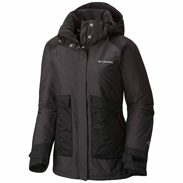 Columbia Alpensia Action Womens Insulated Ski Jacket, Black Crossdye, 600