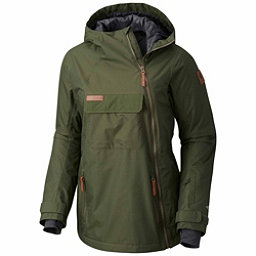 Columbia Catacomb Crest On Snow Anorak Womens Shell Ski Jacket, Surplus Green, 256