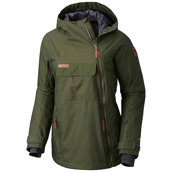 Columbia Catacomb Crest On Snow Anorak Womens Shell Ski Jacket, Surplus Green, 600