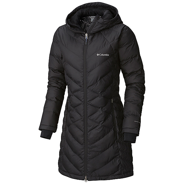 Columbia Heavenly Long Hooded Womens Jacket, Black, 600