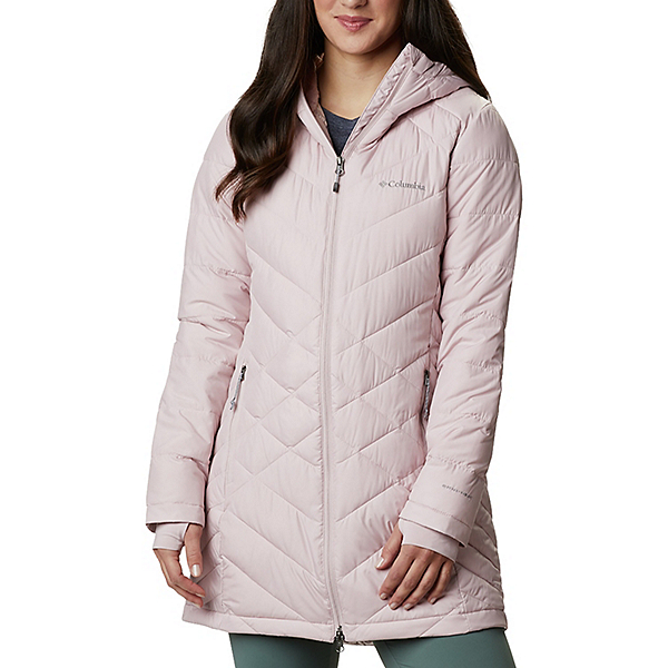Columbia Heavenly Long Hooded Womens Jacket 2021, Mineral Pink, 600