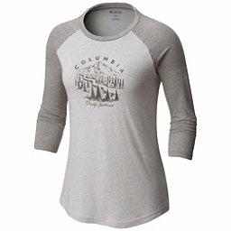 Columbia Mount Tabor Baseball Womens T-Shirt, Grey Heather, 256