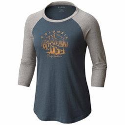 Columbia Mount Tabor Baseball Womens T-Shirt, Mystery-Charcoal, 256