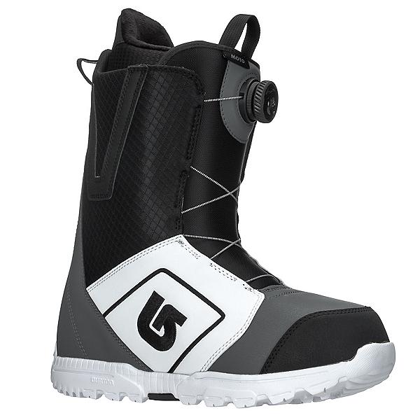 Burton Moto Boa Snowboard Boots 2018, White-Black-Gray, 600