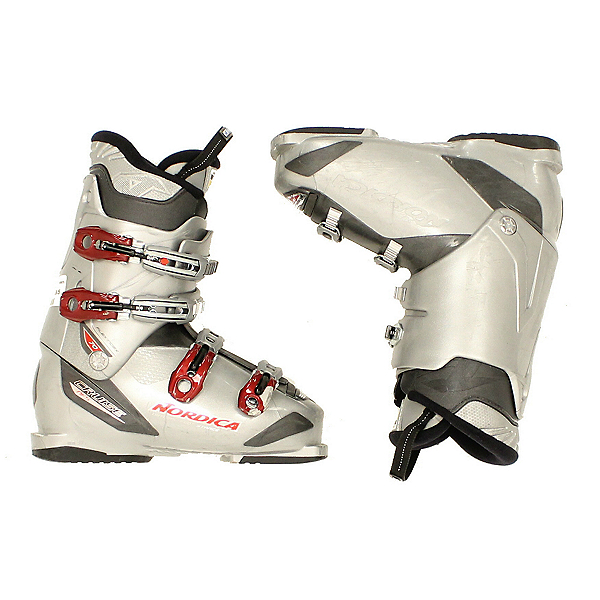 Used Nordica Cruise NFS 70 Mens Ski Boots Gray Red 4 Buckle, , 600