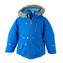 Obermeyer Taiya w/ Faux Fur Toddler Girls Ski Jacket, Stellar Blue, 256