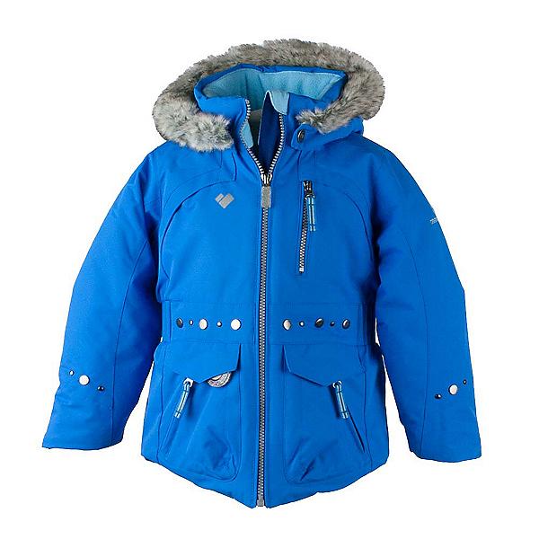 Obermeyer Taiya w/ Faux Fur Toddler Girls Ski Jacket, Stellar Blue, 600