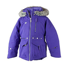 Obermeyer Taiya w/ Faux Fur Toddler Girls Ski Jacket, Grapesicle, 256