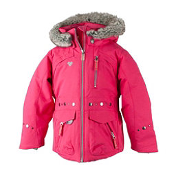 Obermeyer Taiya w/ Faux Fur Toddler Girls Ski Jacket, Smitten Pink, 256
