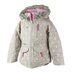Obermeyer Taiya w/ Faux Fur Toddler Girls Ski Jacket, Frost Crystals, 256