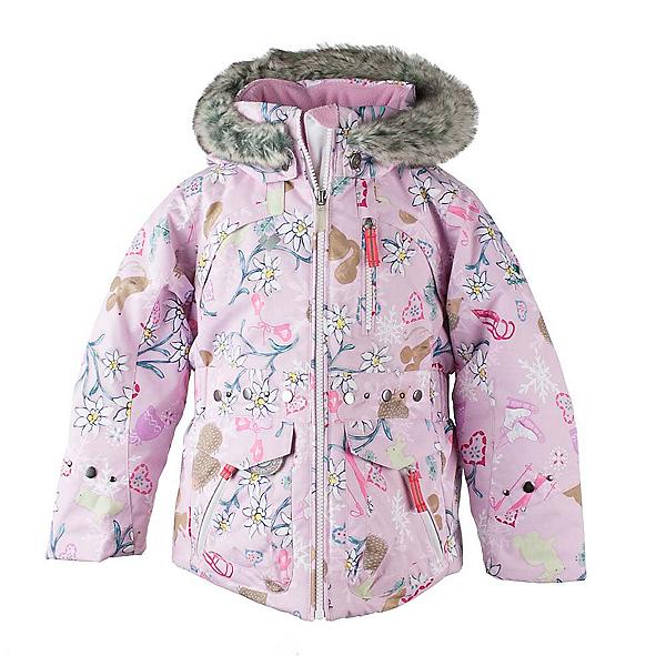 Obermeyer Taiya w/ Faux Fur Toddler Girls Ski Jacket, Snowday-Lets Play, 600