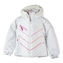 Obermeyer Sierra w/Faux Fur Toddler Girls Ski Jacket, White, 256