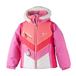 Obermeyer Sierra w/Faux Fur Toddler Girls Ski Jacket, Peony Pink, 256