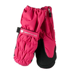 Obermeyer Puffy Down Toddler Girls Mittens, Smitten Pink, 256