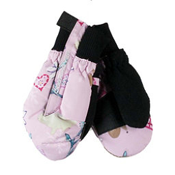 Obermeyer Thumbs Up Print Toddler Girls Mittens, Snowday-Lets Play, 256