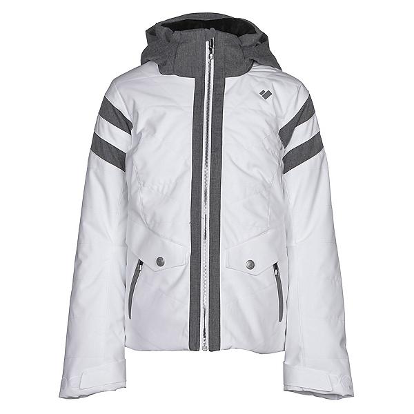 Obermeyer Dyna Girls Ski Jacket, White, 600