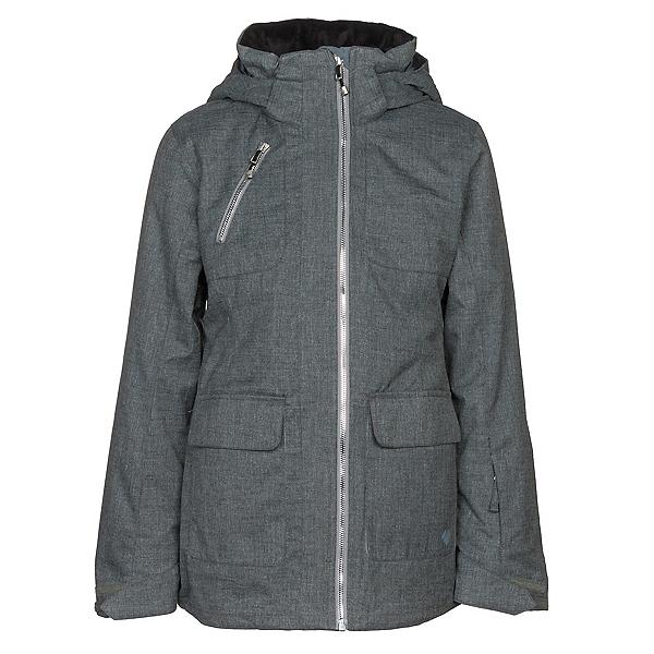 Obermeyer June Girls Ski Jacket, Light Heather Grey, 600