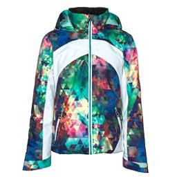 Obermeyer Tabor Print Girls Ski Jacket, Fractal Floral, 256