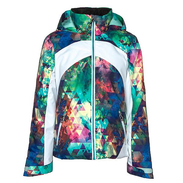 Obermeyer Tabor Print Girls Ski Jacket, Fractal Floral, 600