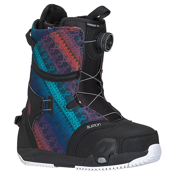 Burton Limelight Step On Womens Snowboard Boots, Black-Multi, 600