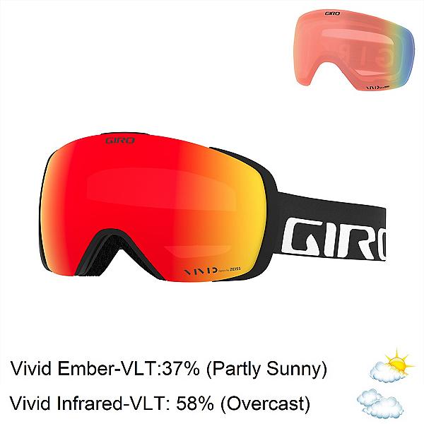 Giro Contact Goggles 2021, Black Wordmark-Vivid Ember + Bonus Lens, 600