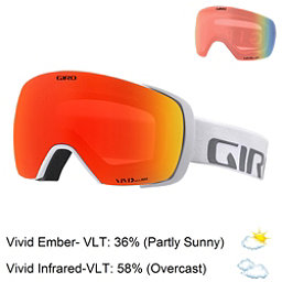 Giro Contact Goggles 2018, White Wordmark-Vivid Ember + Bonus Lens, 256