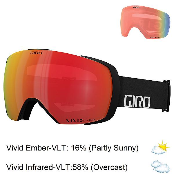 Giro Contact Goggles 2022, Black Wordmark-Vivid Ember + Bonus Lens, 600