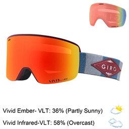 Giro Axis Goggles 2018, Maroon Tit Mtn Div-Vivid Ember + Bonus Lens, 256