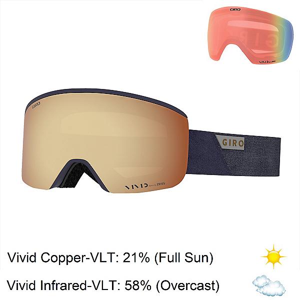 Giro Axis Goggles 2020, Midnight Peak-Vivid Copper + Bonus Lens, 600