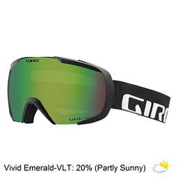 Giro Onset Goggles 2018, Black Wordmark-Vivid Emerald, 256