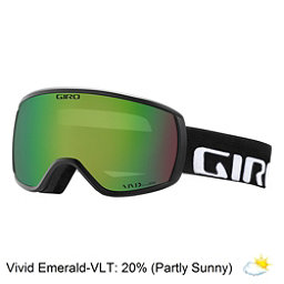 Giro Balance Goggles 2018, Black Wordmark-Vivid Emerald, 256