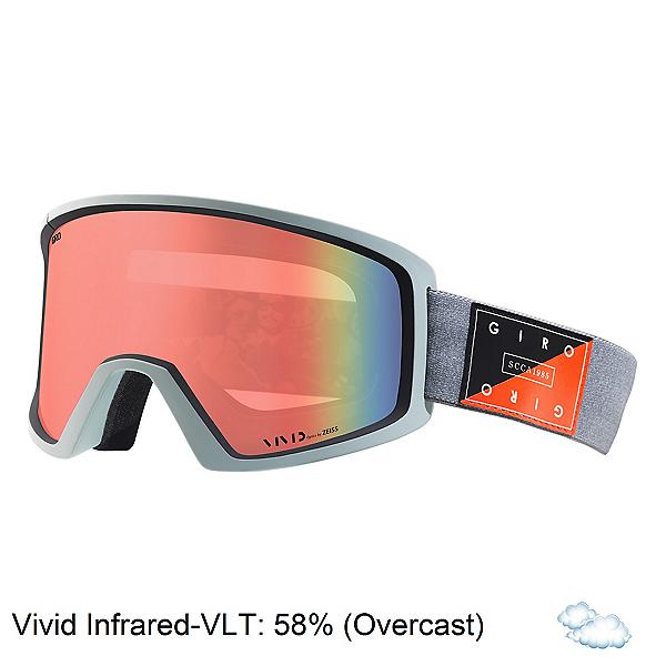 Giro Blok Goggles, Grey Piste Out-Vivid Infrared, 600