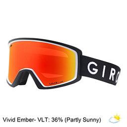 Giro Blok Goggles 2018, Black White Core-Vivid Ember, 256