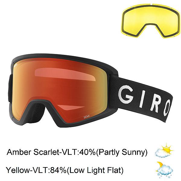 Giro Semi Goggles 2021, Black Core-Amber Scarlet + Bonus Lens, 600