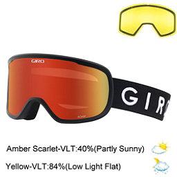 Giro Roam Goggles 2018, Black-Amber Scarlet + Bonus Lens, 256