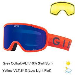 Giro Roam Goggles 2018, Vermillion Horizon-Grey Cobalt + Bonus Lens, 256