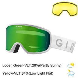 Giro Roam Goggles 2018, White-Loden Green + Bonus Lens, 256
