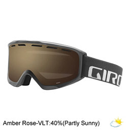 Giro Index OTG Goggles 2018, Titanium Wordmark-Amber Rose, 256