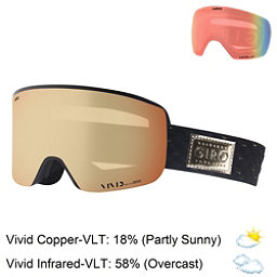 Giro Ella Womens Goggles 2018, Black Gold Shimmer-Vivid Coppe + Bonus Lens, 256