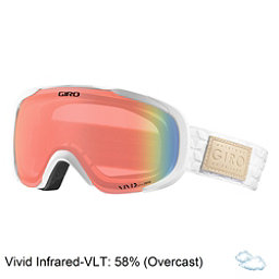 Giro Field Womens Goggles 2018, White Quilted-Vivid Infrared, 256