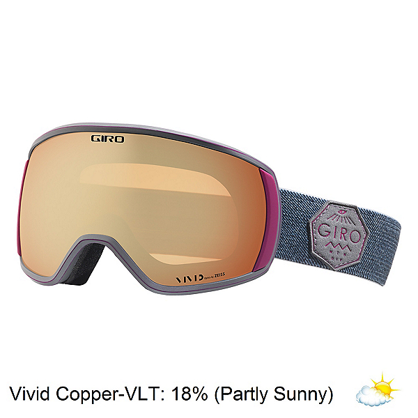 Giro Facet Womens Goggles 2018, Berry Mtn Division-Vivid Coppe, 600