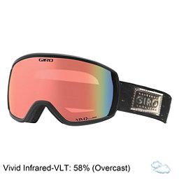 Giro Facet Womens Goggles 2018, Black Gold Shimmer-Vivid Infra, 256