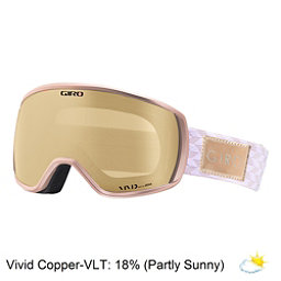 Giro Facet Womens Goggles, Rose Gold Shimmer-Vivid Copper, 256