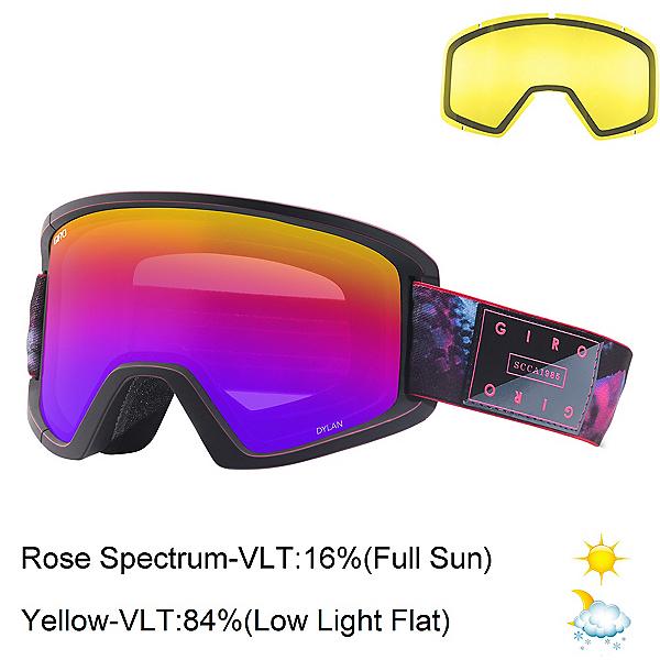 Giro Dylan Womens Goggles 2018, Tidepool-Rose Spectrum + Bonus Lens, 600