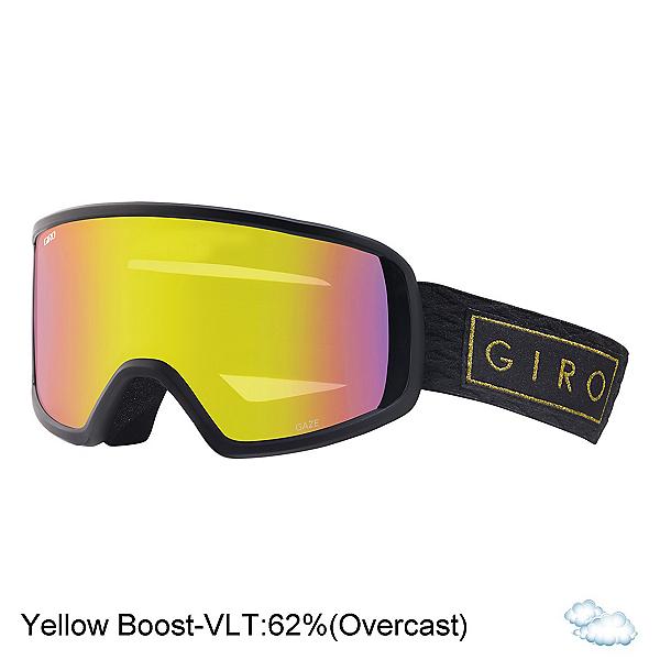 Giro Gaze Womens Goggles 2018, Black Gold Bar-Yellow Boost, 600
