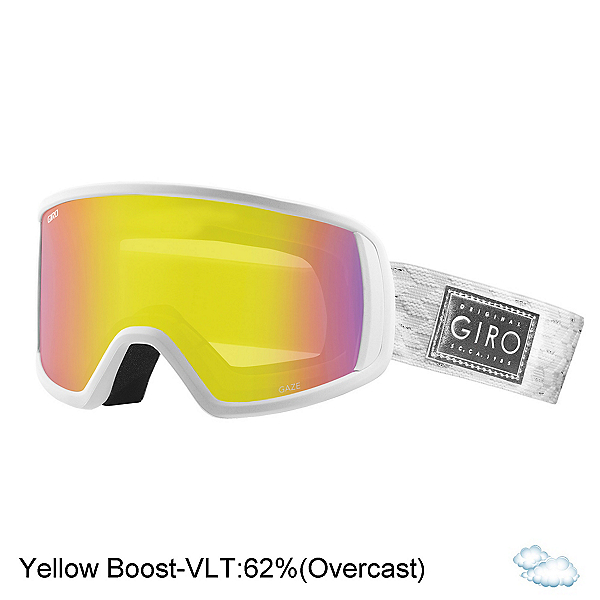 Giro Gaze Womens Goggles, White Silver Shimmer-Yellow Bo, 600