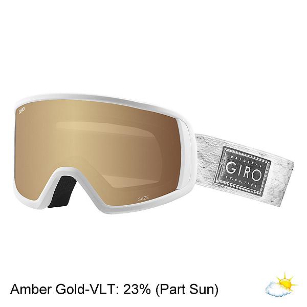 Giro Gaze Womens Goggles 2020, White Silver Shimmer-Amber Gol, 600