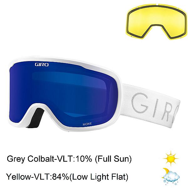 Giro Moxie Womens Goggles, White-Grey Cobalt + Bonus Lens, 600