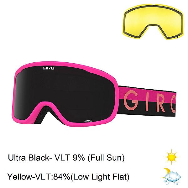 Giro Moxie Womens Goggles 2020, Pink Throwback-Ultra Black + Bonus Lens, 600
